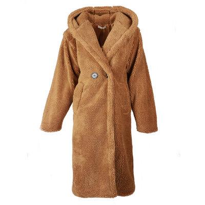 JAIMY Teddy hoodie coat camel