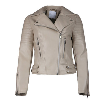 JAIMY The perfect biker jacket beige