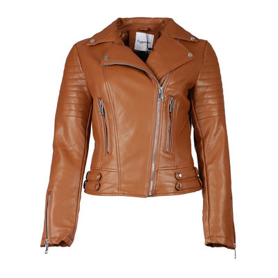 JAIMY The perfect biker jacket camel