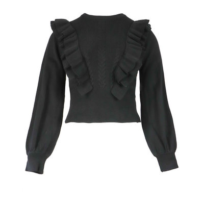 JAIMY Jolie ruffle top black