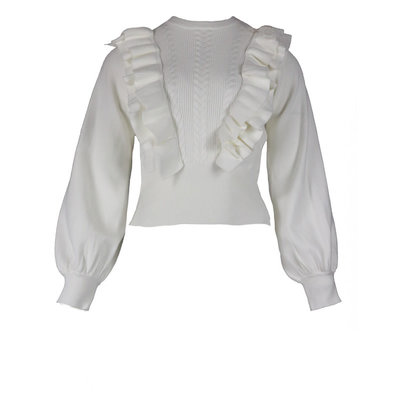 JAIMY Jolie ruffle top white