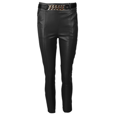 JAIMY Leather chain pants black