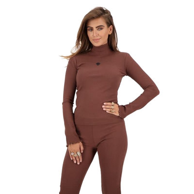 REINDERS Mandy top dark brown