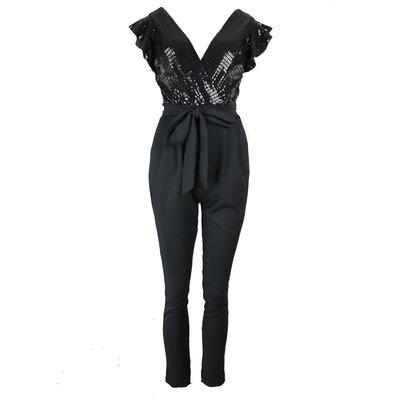 JAIMY Sparkle jumpsuit black