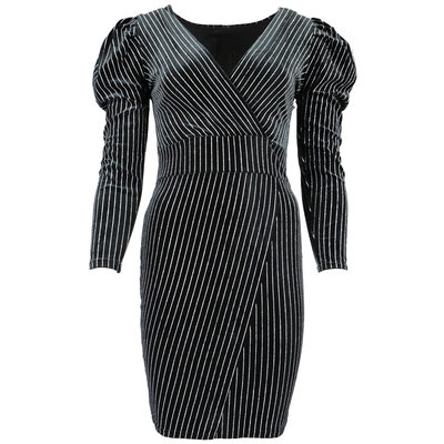 JAIMY Striped sparkle dress