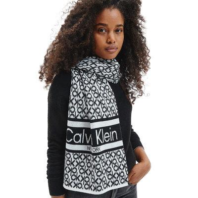 CALVIN KLEIN Logomania scarf black