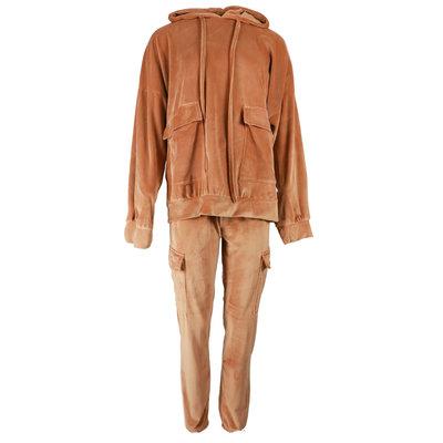 JAIMY Velvet comfy suit camel
