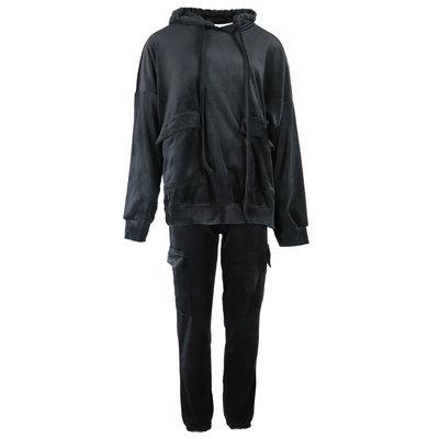 JAIMY Velvet comfy suit black