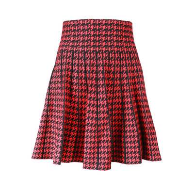 JAIMY Check skirt black red