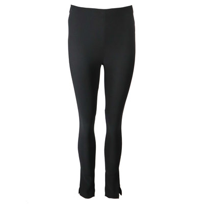 JAIMY Ribbed split pants black