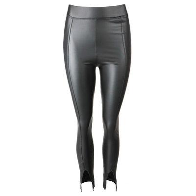 JAIMY Leather split pants black