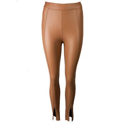 JAIMY Leather split pants camel