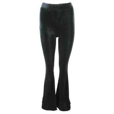JAIMY Velvet flared pants black