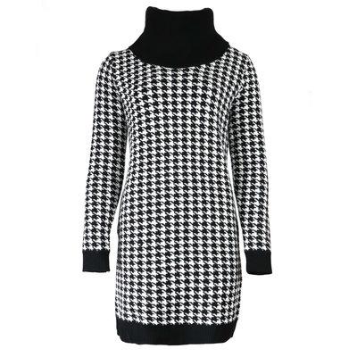 JAIMY Pied de poule sweater dress