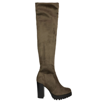 JAIMY Alex overknee boots army  green