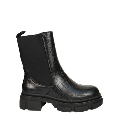 JAIMY Cleo croco boots black