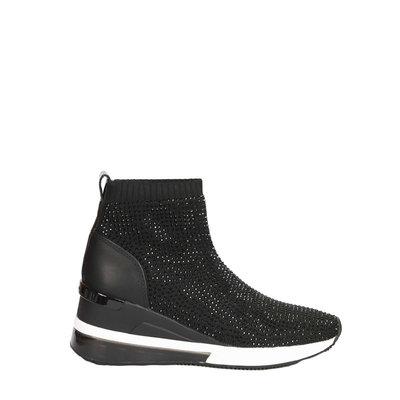 MICHAEL KORS Skyler Embellished Stretch-Knit Sock Sneaker