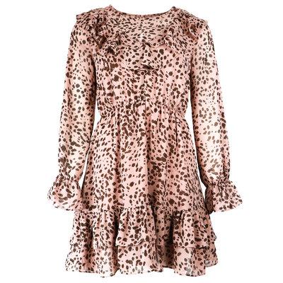 JAIMY Jess leopard dress pink