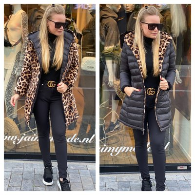 JAIMY OH MY FLUFFY 2WAYSTOWEAR jacket leopard