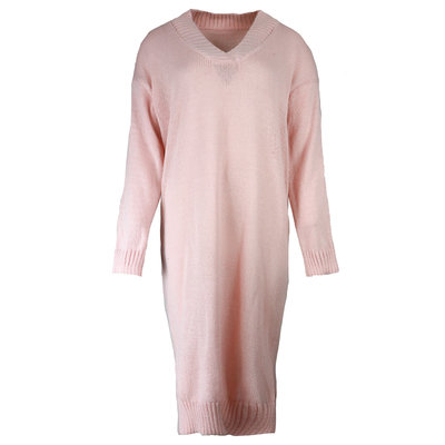 JAIMY Sweater dress v-neck pink