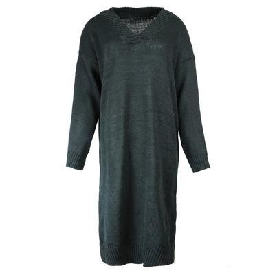 JAIMY Sweater dress v-neck black