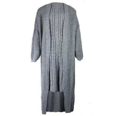 JAIMY 2 piece knitwear set grey