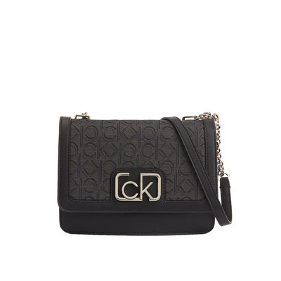 CALVIN KLEIN Flap shoulder bag black mix