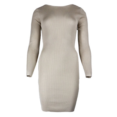 JAIMY Low back chain dress beige