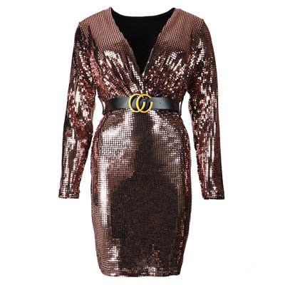 JAIMY Layla sparkle dress rose gold
