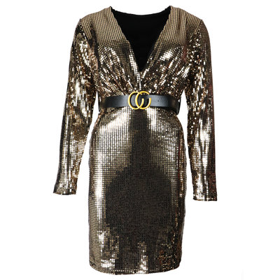 JAIMY Layla sparkle dress gold