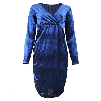 JAIMY Lolo velvet dress blue
