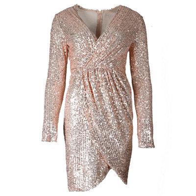 JAIMY Hailey sequin dress rose