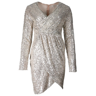 JAIMY Hailey sequin dress gold