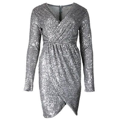 JAIMY Hailey sequin dress zilver