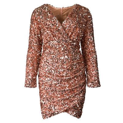 JAIMY Lexi sequin sparkle dress rose