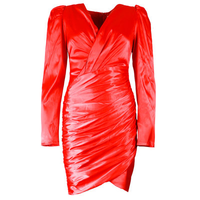 JAIMY Perfect satin dress red