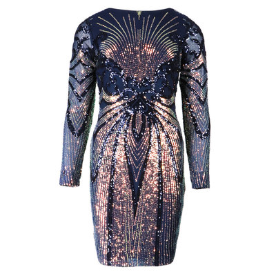 JAIMY Novi sparkle dress blue