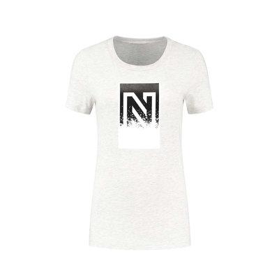NIKKIE Splatter N logo t shirt melange
