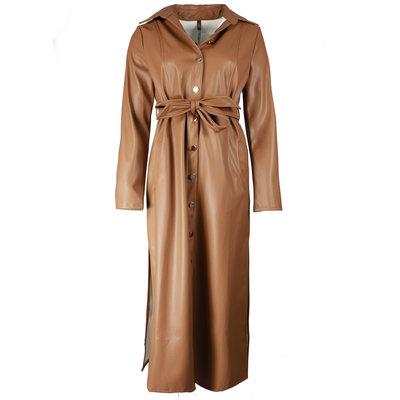 JAIMY Marie leather dress camel