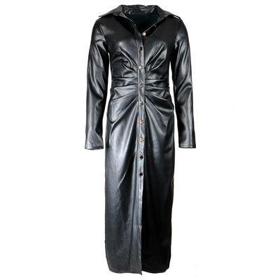 JAIMY Pip leather dress black