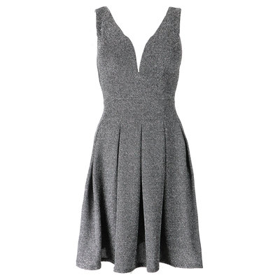 JAIMY Jill sparkle dress zilver
