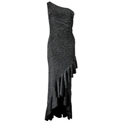 JAIMY One shoulder sparkle dress black