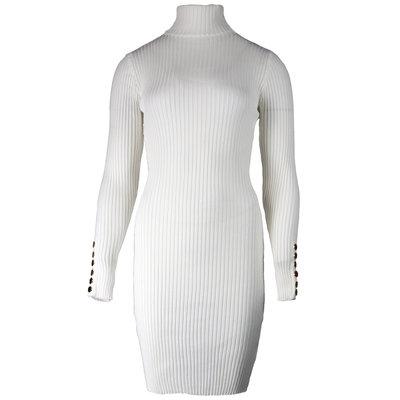 JAIMY Sam bodycon col dress white