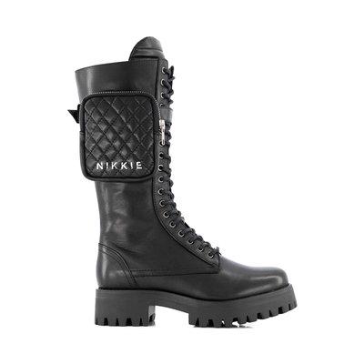 NIKKIE Combat brandy boots