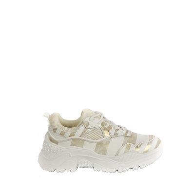 JAIMY Gold platform sneaker