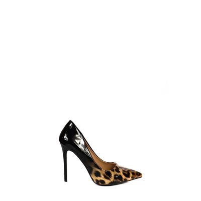 JAIMY Leopard shine pumps black