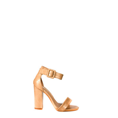 JAIMY Croco high heel beige