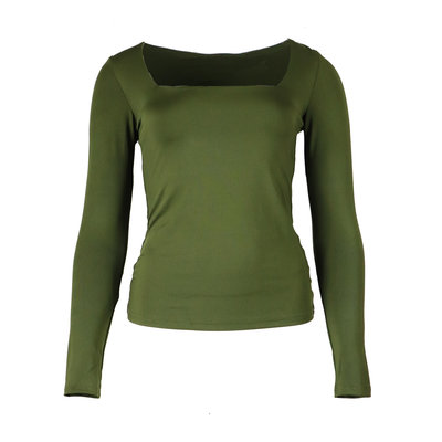 JAIMY Sqaure neck travel top green