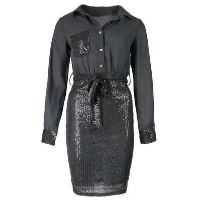 JAIMY Sequin blouse dress