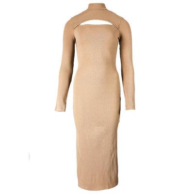 JAIMY Aiko cut out dress beige